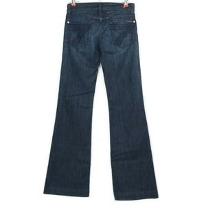 7 For All Mankind Dojo Wide Flare Jeans 25 x 34